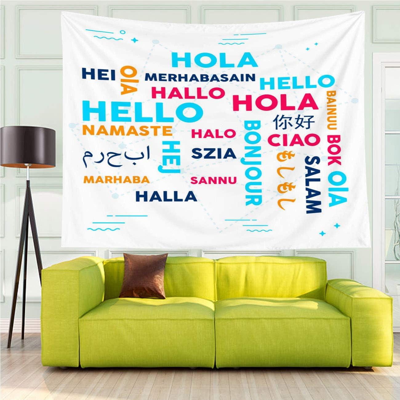 Amazon.com: MinGz Wall Tapestry Versatile,Language Translation