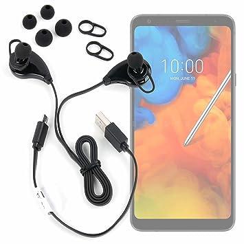 DURAGADGET Auriculares inalámbricos en Color Negro para Smartphone ASUS ROG Phone, Motorola Moto Z3 Play