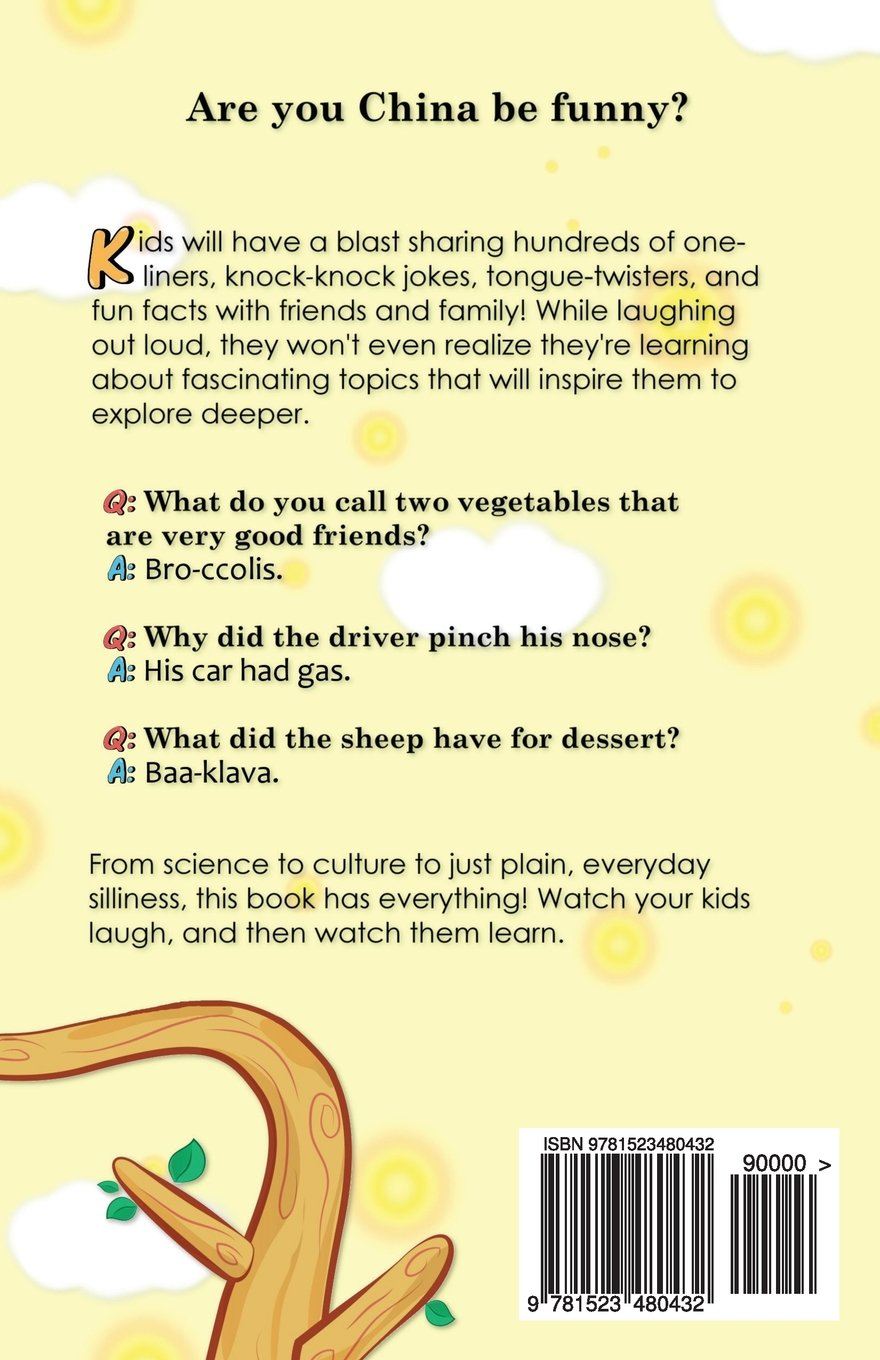 500 Jokes Tongue Twisters Fun Facts For Kids Corny Humor
