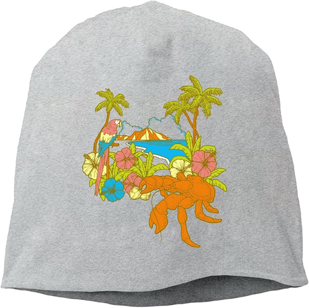 Janeither Headscarf Coconut Tree Hip-Hop Knitted Hat for Mens Womens Fashion Beanie Cap