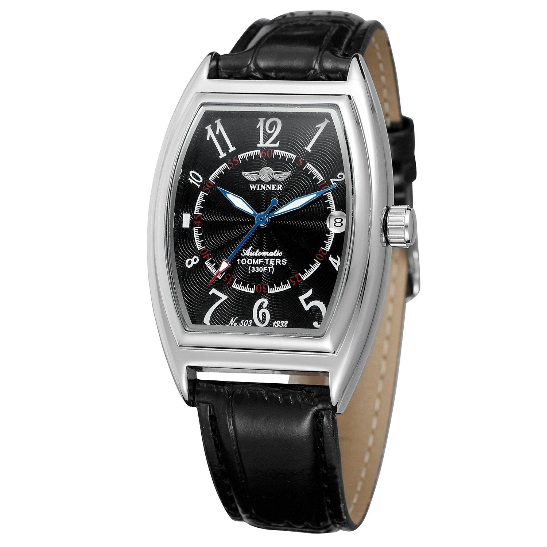 Amazon.com: FORSINING Mens Automatic Watch Top Luxury Brand Relojes Date Function Tonneau Shape Fashion Watch: Watches