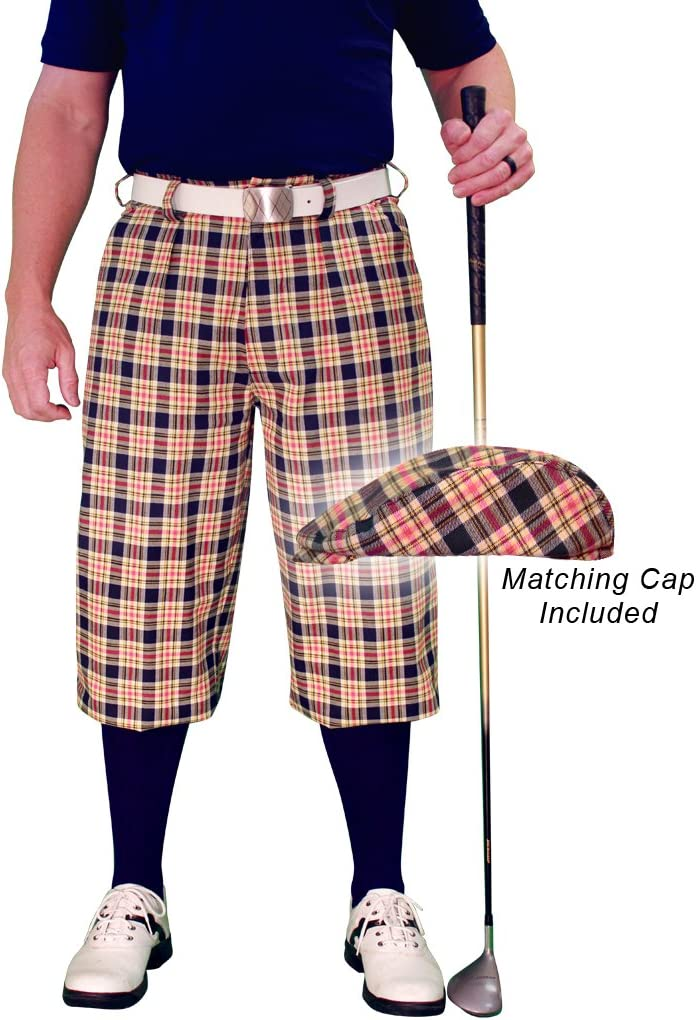 ゴルフKnickers Plaid Cap :メンズ' Par 5 ' – ハバナ