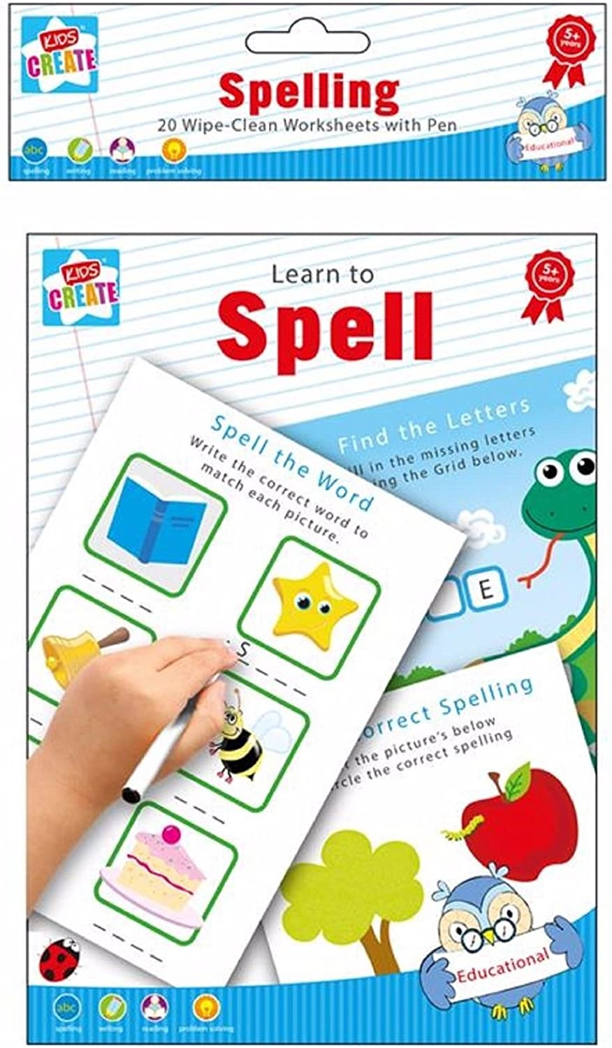 - Amazon.com : Learn To Spell - Spelling Writing & Reading 20 Wipe