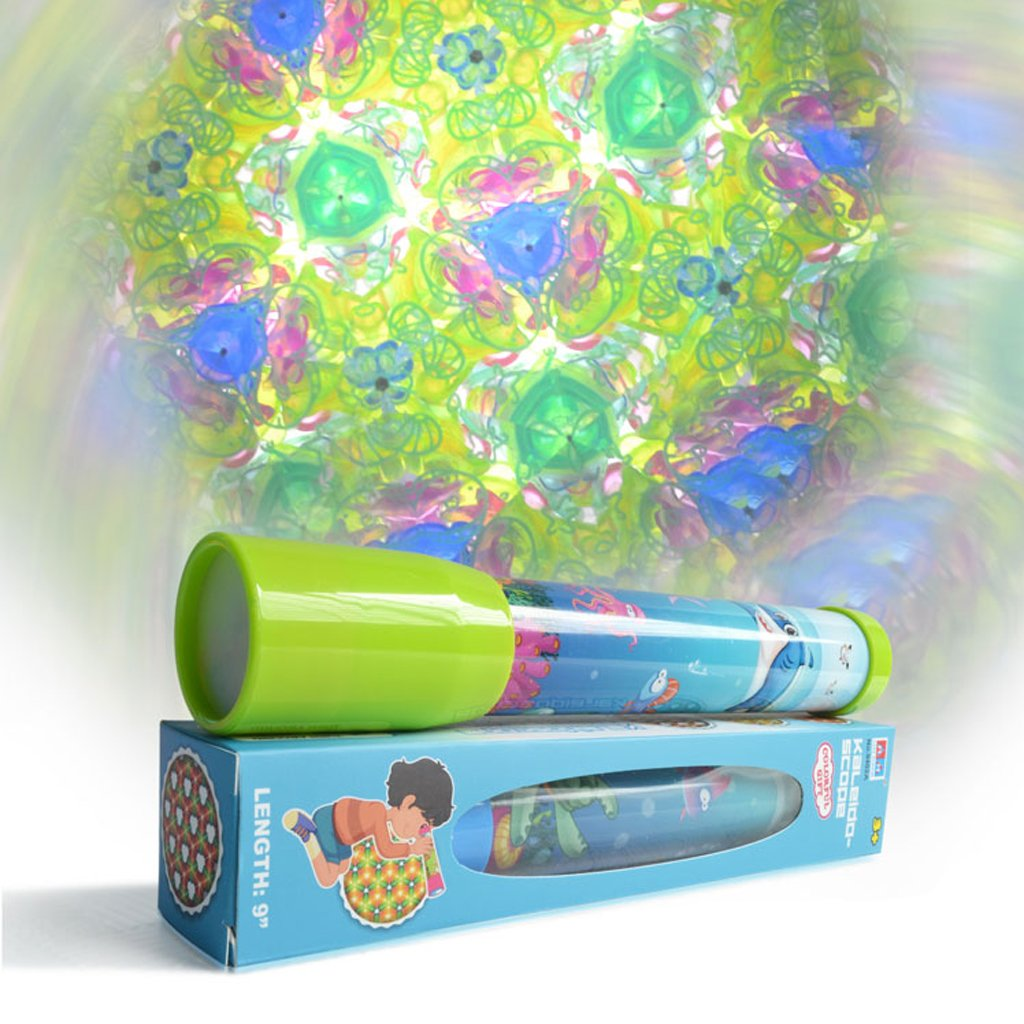 Dovewill 23cm Plastic Portable Magic Kaleidoscope Optical Toys Kids Children Educational Science Toys Scientific Experiment Teaching Aids Random Delivery