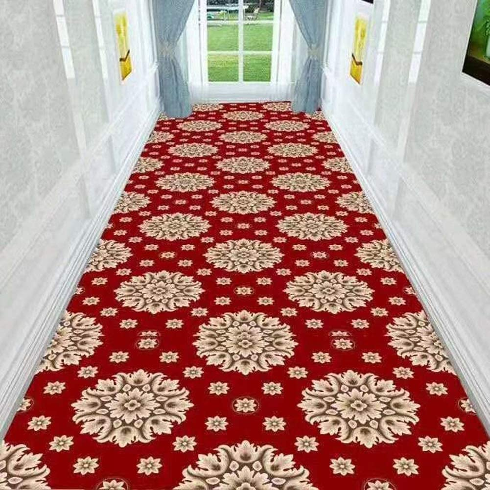 QTT Jacquard Runner Rugs Floral Throw Carpet Contemporary Printed Mat for Hallway Entryway Modern Home Dector Multi Size TTaN (Color : J, Size : 1X5m)