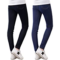 Adorel Leggings Vaqueros Pantalones Elástico Niña Pack de 2