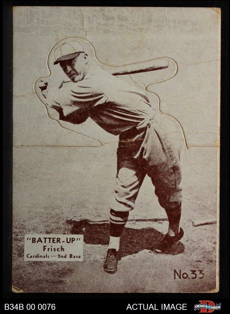 1934 Batter nach oben # 33 Frankie Frisch (Baseball Card) Dean's Cards 2 - GOOD