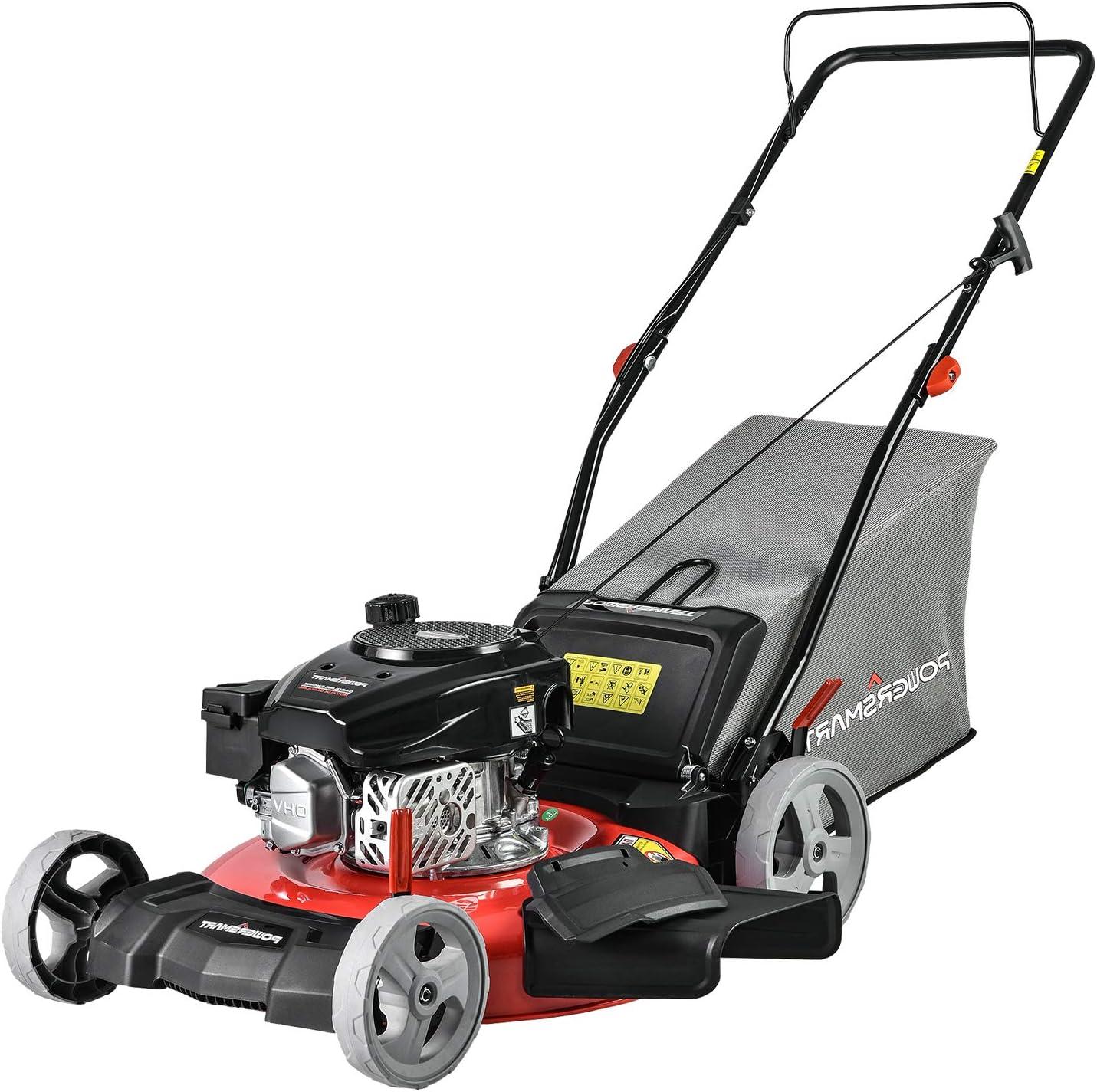 PowerSmart Gas Powered Lawn Mower, 21-inch & 170CC