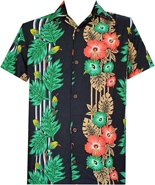 Hawaiian 3D Print Abbottonato Camicia Casual Da Uomo Manica Corta Estate ALOHA TEE