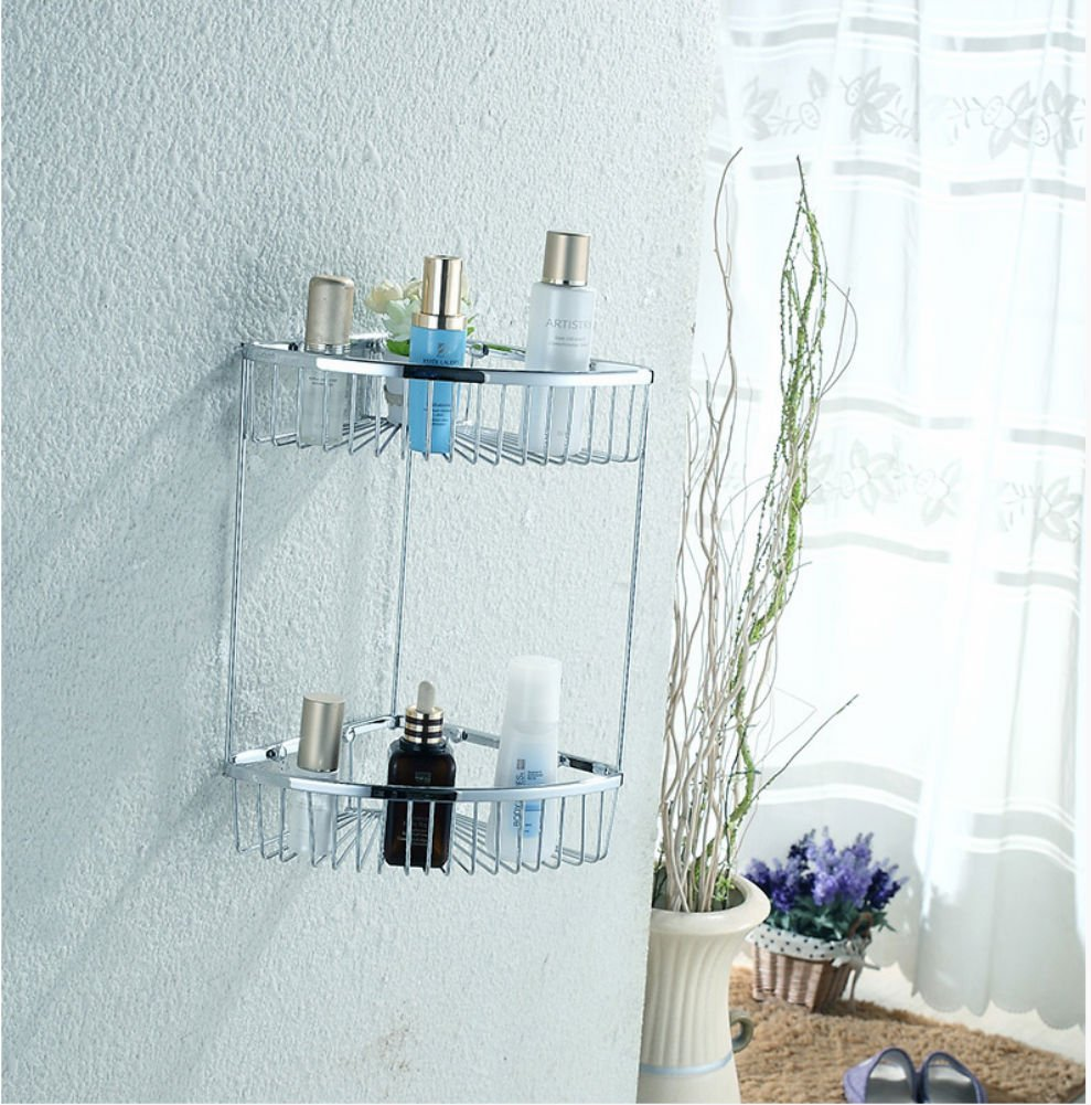 STERNBERG 2-Tier Bathroom Shower Wall Mounted Corner Caddy for ...