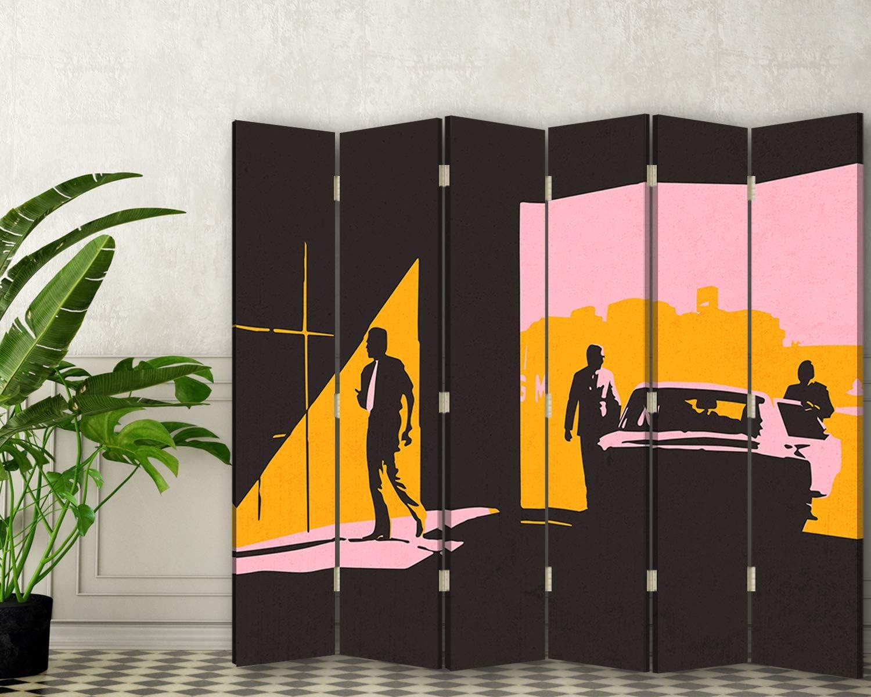 carowall CAROWALL.COM Biombo Retrato 6 Paneles 360° Abstracto ...