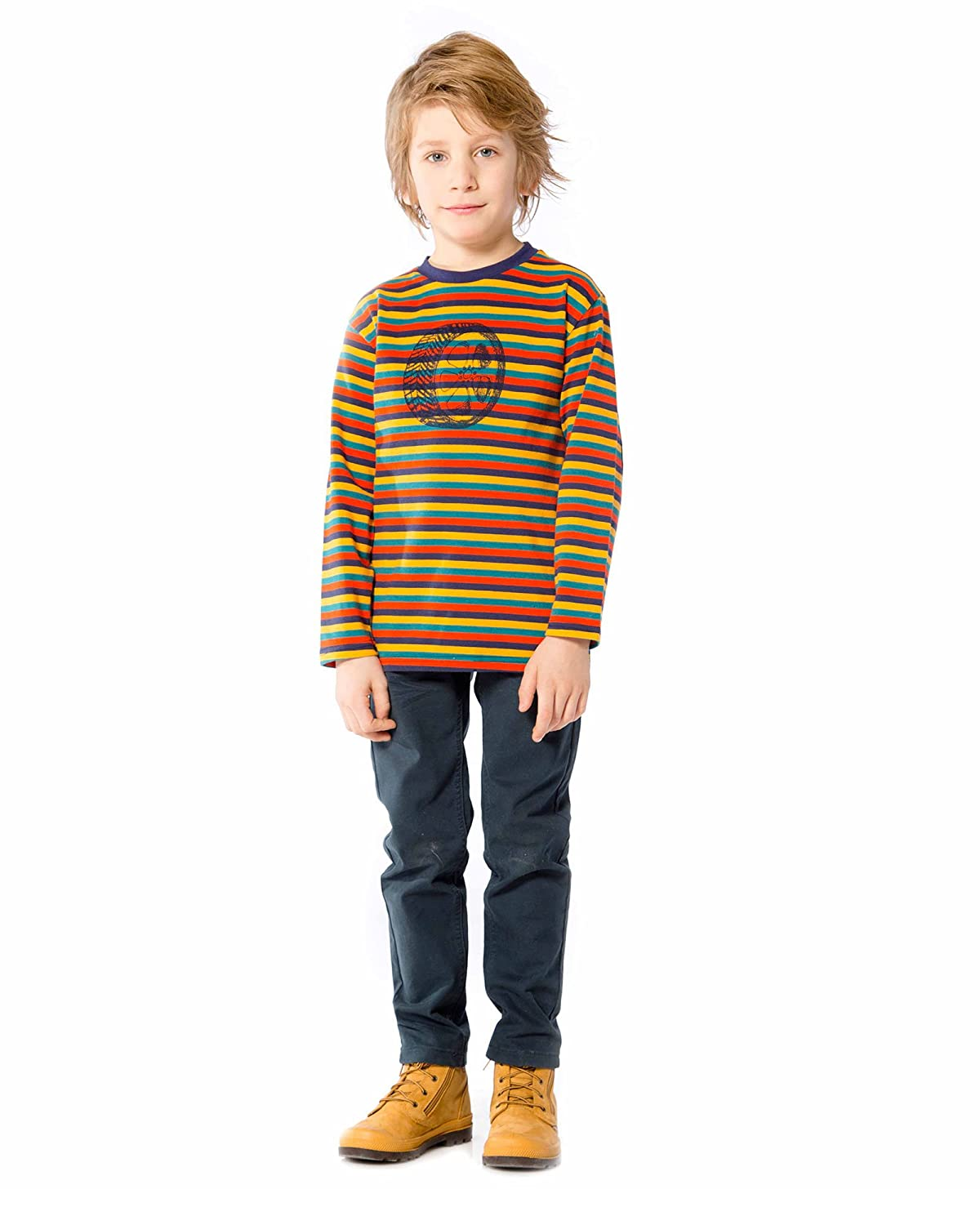 Sizes 18M-6 Deux par Deux Boys Striped T-Shirt Off Road