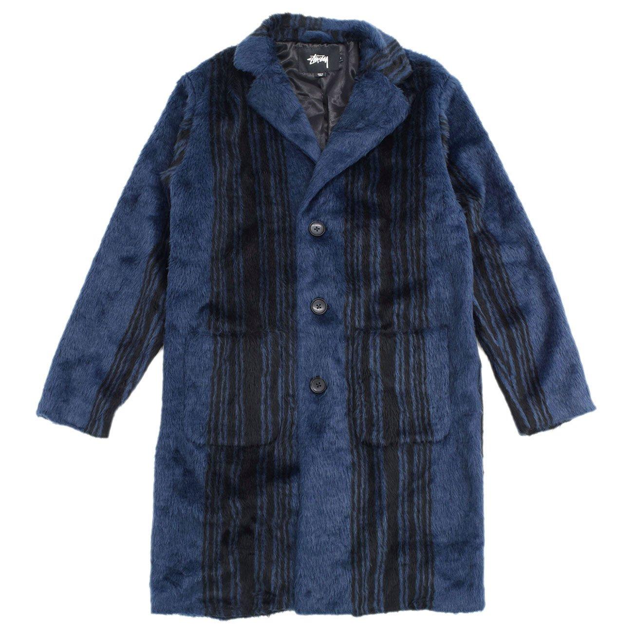 (ステューシー) STUSSY ジャケット メンズ Stripe Overcoat [並行輸入品] B078JF3DPS M ネイビー ネイビー M