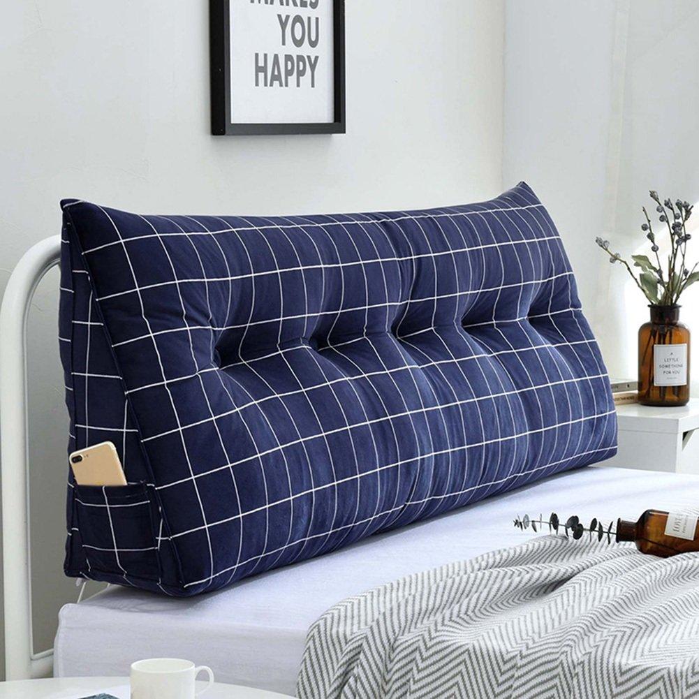 8  120×20×50cm RFJJAL Double Headboard Cushion Backrest King Size Headboard Cushion Pad Triangular Wedge Cushion,Washable Removable,8 colors, 8 Sizes (color   5 , Size   90×20×50cm)