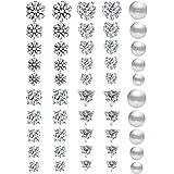 25-50 Pairs Stainless Steel Stud Earrings Set Hypoallergenic Cubic Zirconia Earring for Girls Women Men 4-8 mm|Silver…