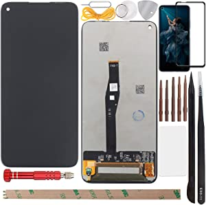 "YHX-US Screen Replacement for Huawei Nova 5T/Honor 20 Pro/Honor 20/Honor 20s 2019 6.26"" LCD Display Touch Screen Digitizer Assembly with 1 Piece Screen Protector&1 Lens Protector+Tools(Black)"