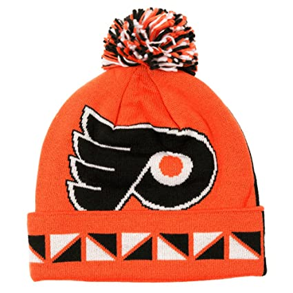 3d92d3328 Image Unavailable. Image not available for. Color  Philadelphia Flyers NHL  Mitchell   Ness 2 Face Cuffed Knit Beanie Hat w  Pom -