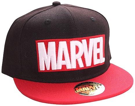 Marvel Logo Snapback Cap (Red Black)  Amazon.co.uk  Toys   Games 7b859e28f62
