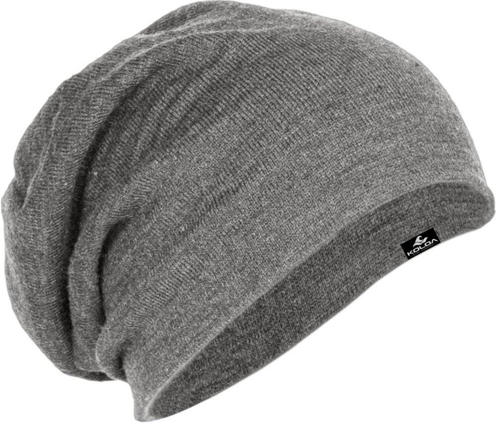 Koloa Surf Slouchy Beanie in 10 Colors,Light Grey,One Size