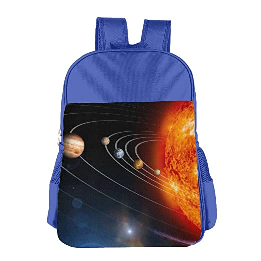 Children s Schoolbag Solar System Planets Galaxy Light Weight Backpack  Satchel Lunch Bag RoyalBlue f63c8cc169ae4