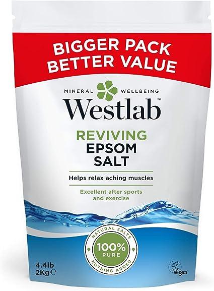 Sal de baño Westlab Epsom (2 kg): Amazon.es: Belleza