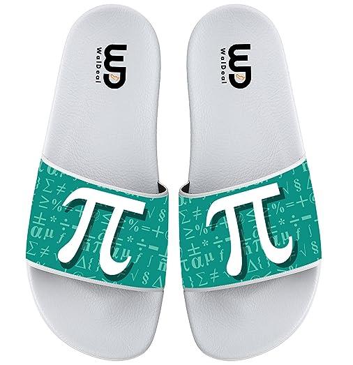 Math Pi Symbol Slide Sandal For Men's Women Soft Bathroom Shower Beach
