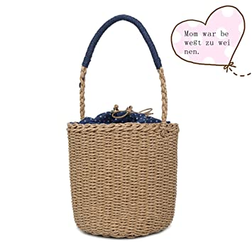 022752eea14a6 Mypace Groß Klein Umhängetasche Leder Tasche Für Damen Damenmode Stroh  gewebte Tasche einfarbig Umhängetasche Wild Casual