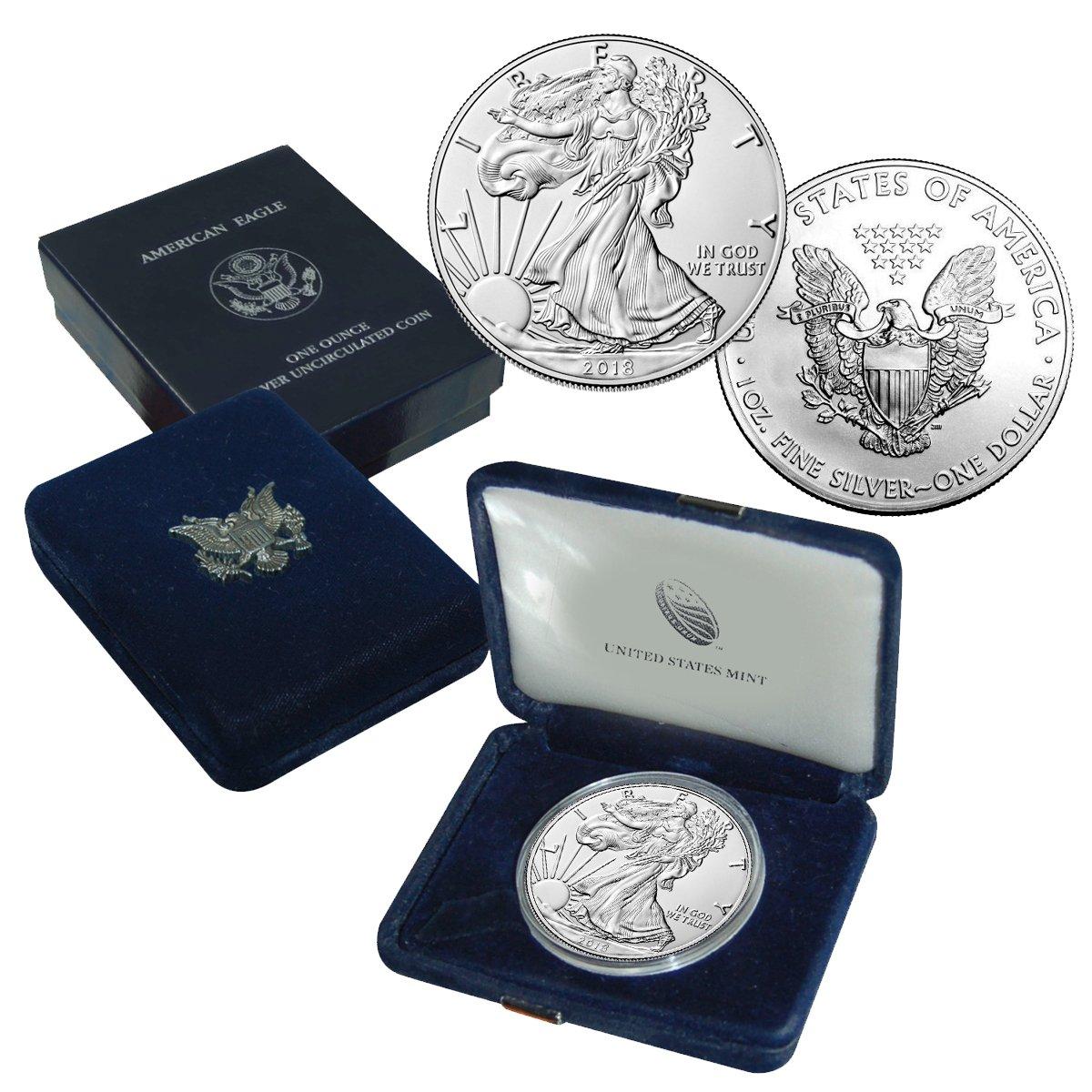 2018 American Silver Eagle Brilliant Uncirculated US Mint Box