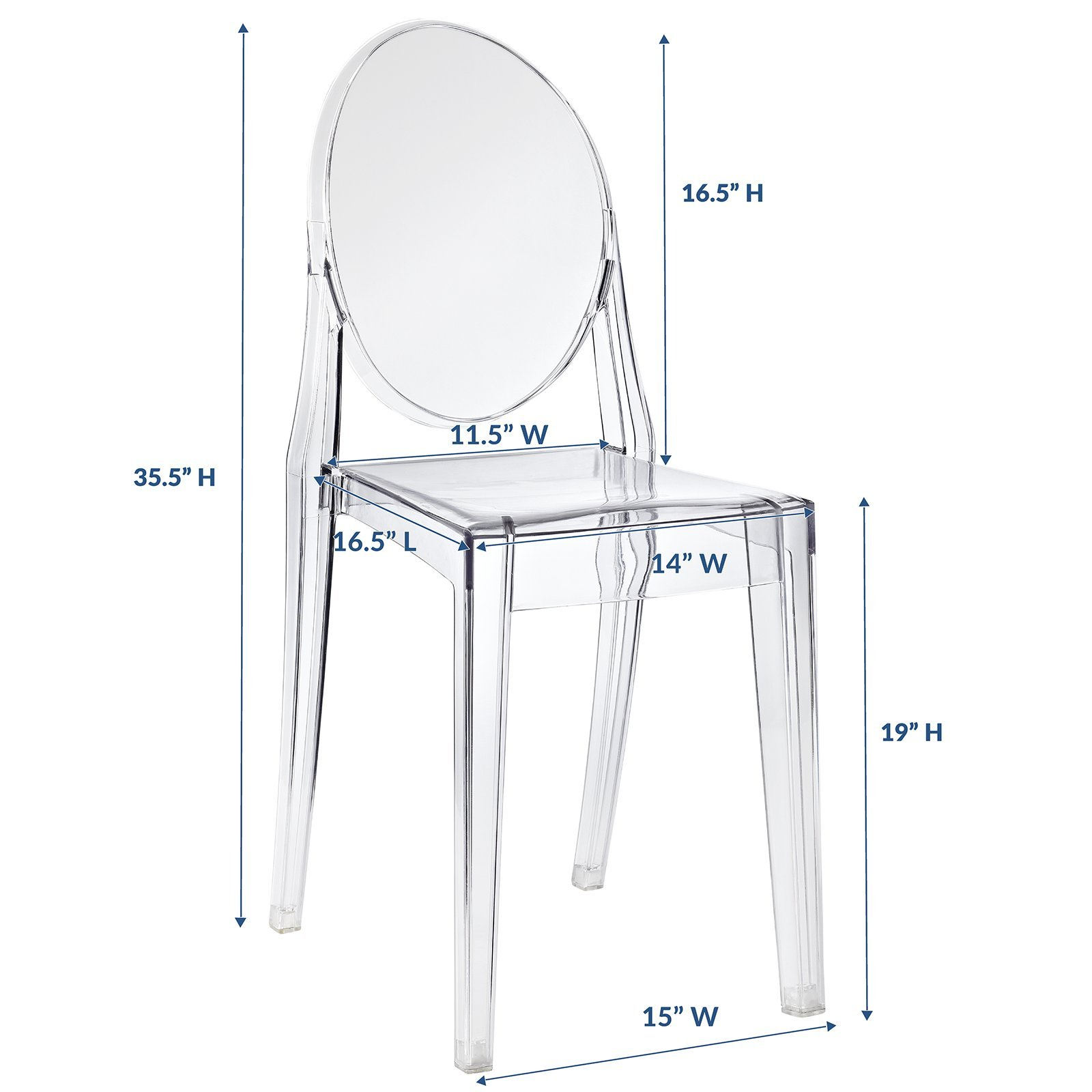 Modway Casper Dining Side Chair in Clear by Modway (Image #2)