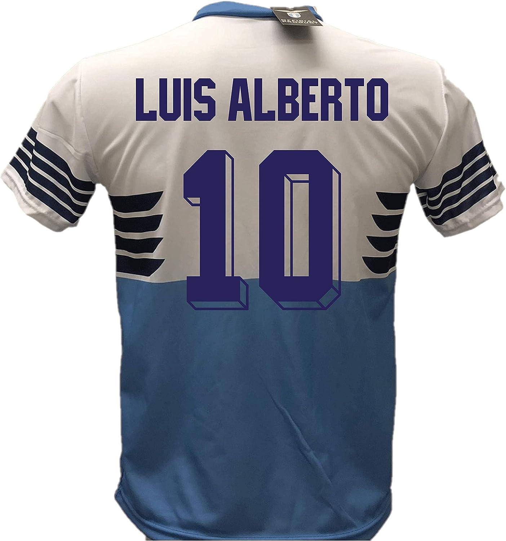 Camiseta de fútbol Lazio Luis Alberto 10 réplica autorizada 2018-2019 para niño (tallas 6, 8, 10, 12) para adulto (S, M, L, XL): Amazon.es: Ropa y accesorios
