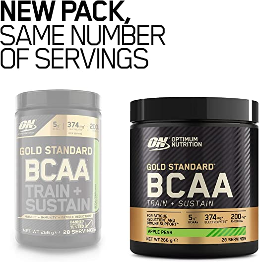 Optimum Nutrition Gold Standard BCAA, Amino Acid Powder, Vitamin C with Zinc, Magnesium and Electrolytes, Immune Booster, Apple and Pear, 28 Servings, 266 g, Packaging May Vary: Amazon.co.uk: Health & Personal Care