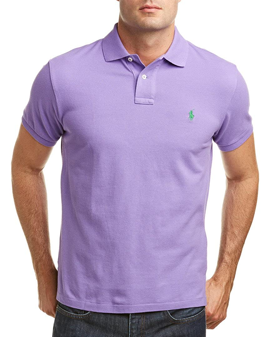 Ralph Lauren Shirtspring Lilac Mens Polo Custom Fit 3L54ARj