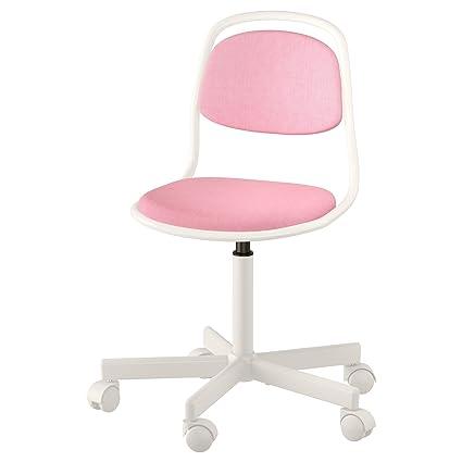 Zigzag Trading Ltd IKEA ORFJALL - Silla Junior Blanco/Rosa ...