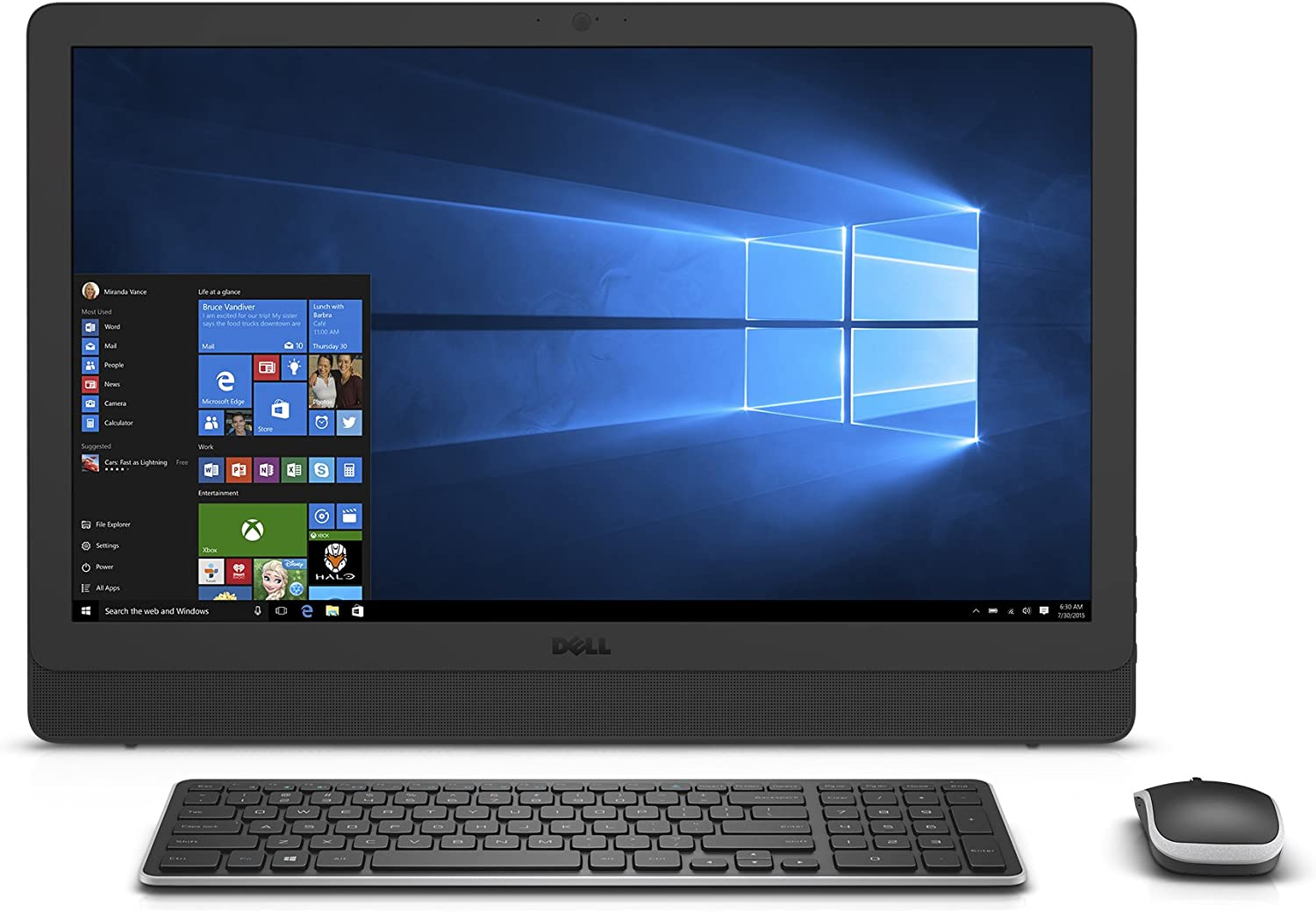 "Dell i3464-3000BLK-PUS Inspiron AIO, 23.8"" AIO, (7th Gen Core i3 (up to 2.40 GHz), 8GB, 1TB HDD, Intel HD Graphics 620, Black"