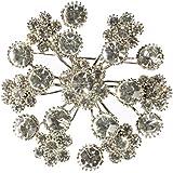 Cyllene Fantaisie - Broche bouquet de fleurs blanche