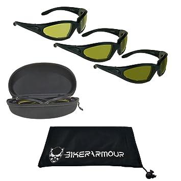 Amazon.com: Luz Ajustar motocicleta anteojos de sol Espuma ...