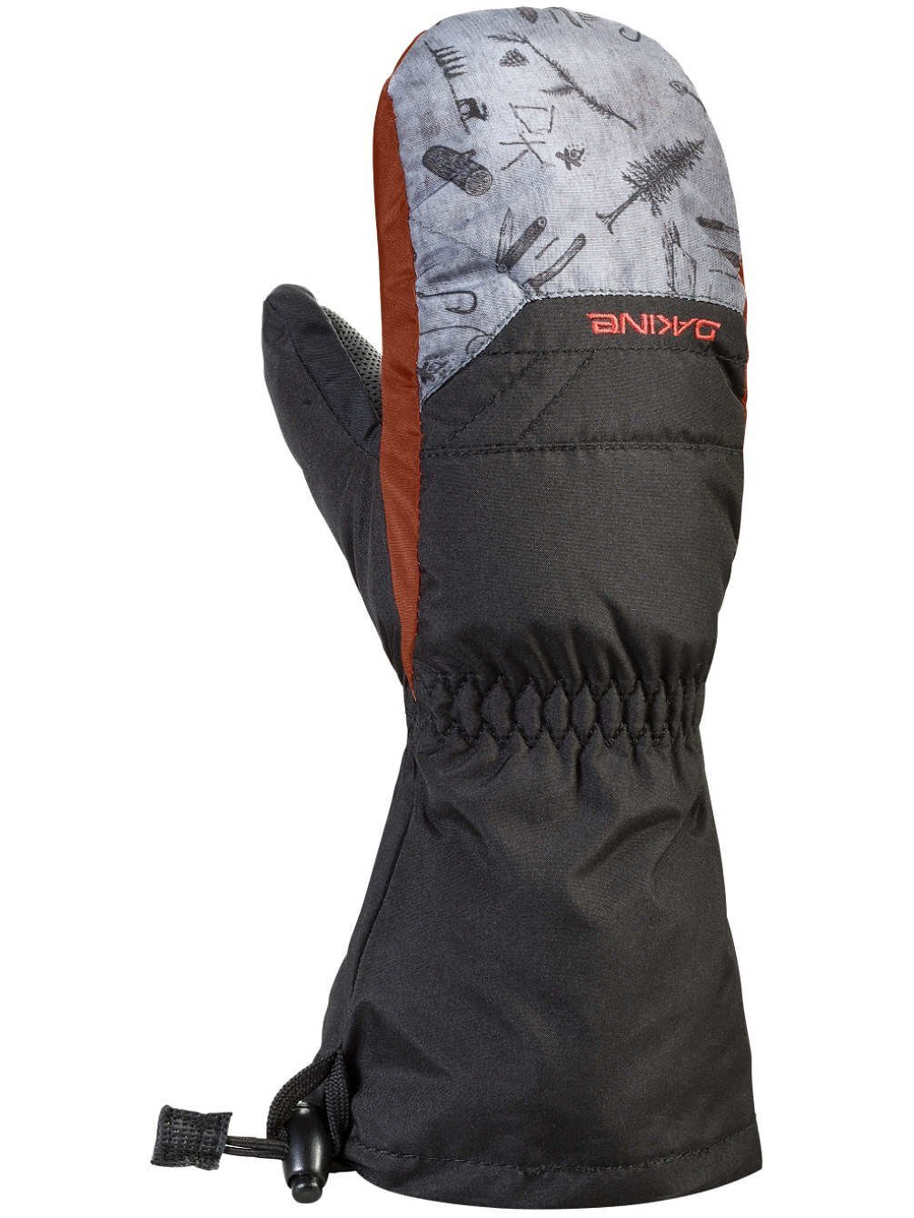 Dakine Kid's Yukon Mitt Gloves, Northwoods, K/L