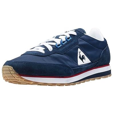 a5f28388b208 Le Coq Sportif Azstyle Gum Vintage D-Eyelet Mens Trainers Navy Red Blue - 45