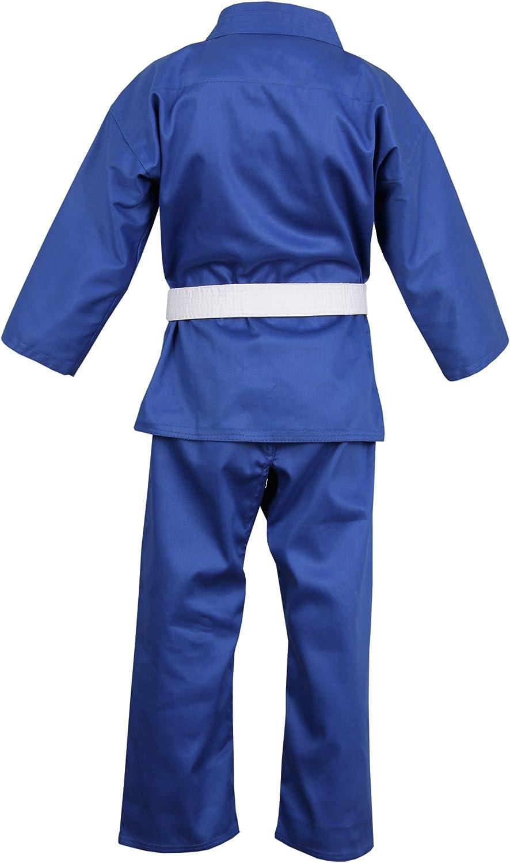 Amazon.com : Norman Blue Childrens Karate Suit Free White ...