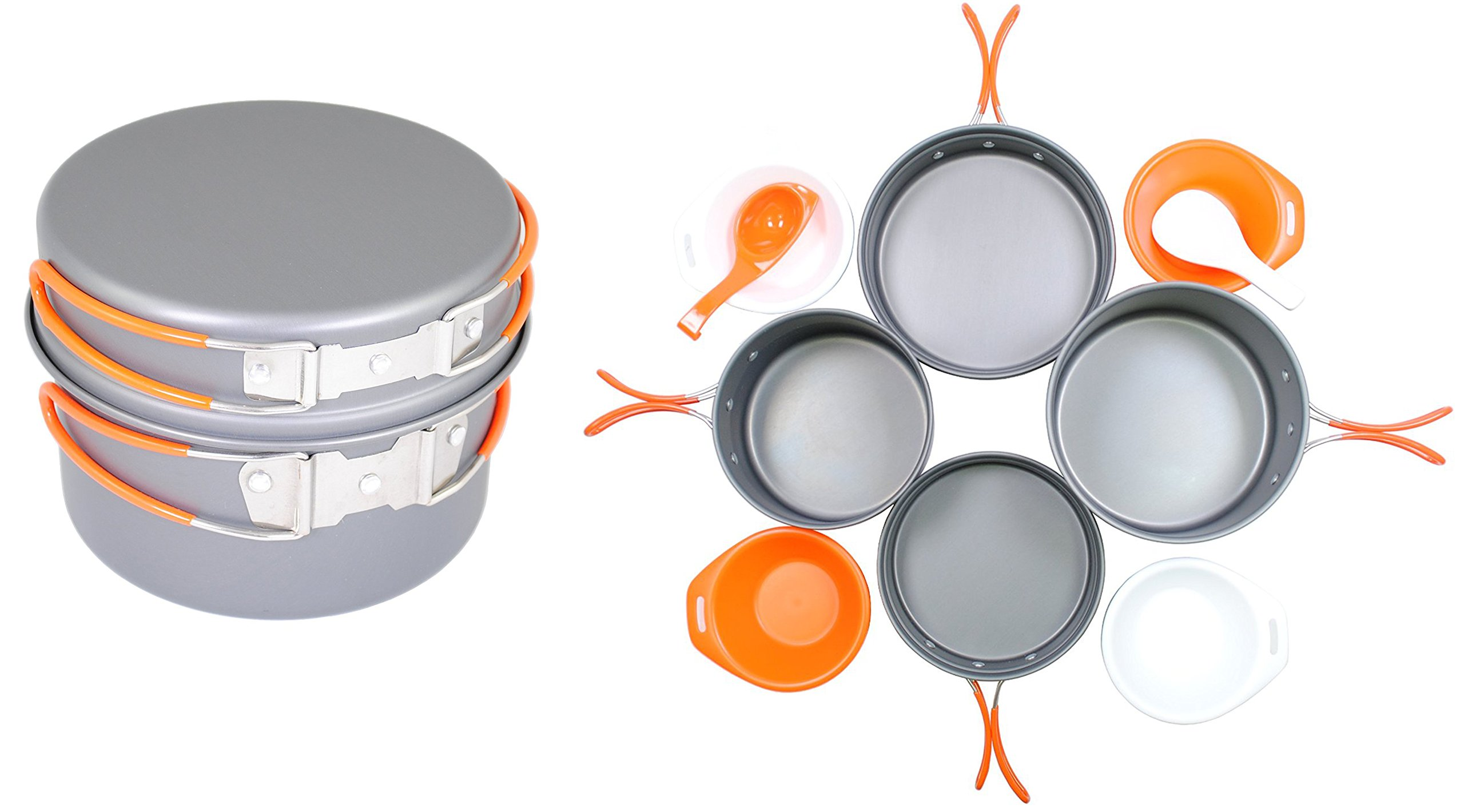 Gas One Anodizing Aluminum Cook Set (3-5 people) - Outdoor cooking/Hiking/Backpacking cookware by GasOne
