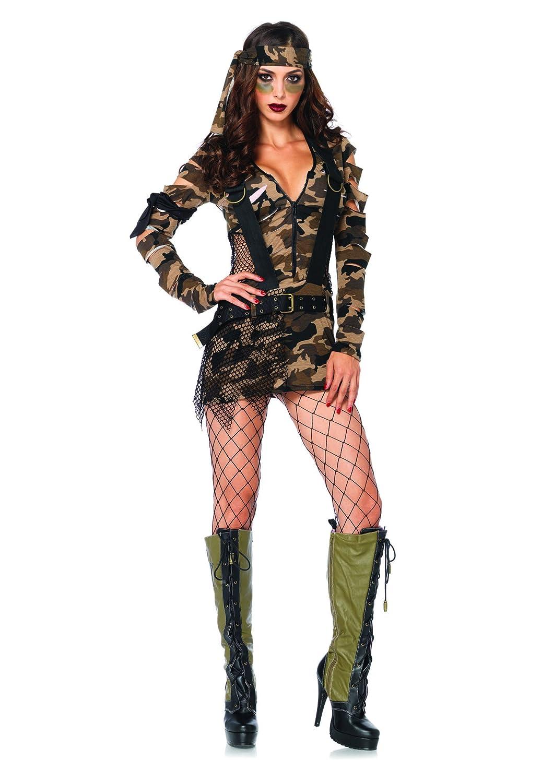 Leg Avenue 85187 85187 85187 - Kampf-Babe Kostüm Set, 3-teilig, Größe M/L, camo cc1813