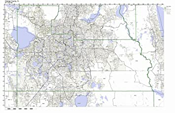 Orange County Florida Map.Amazon Com Orange County Florida Fl Zip Code Map Not Laminated
