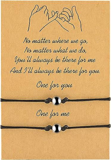 Friendship Miracle Bead Wish Bracelet Best Friend Heart Small Verse Card