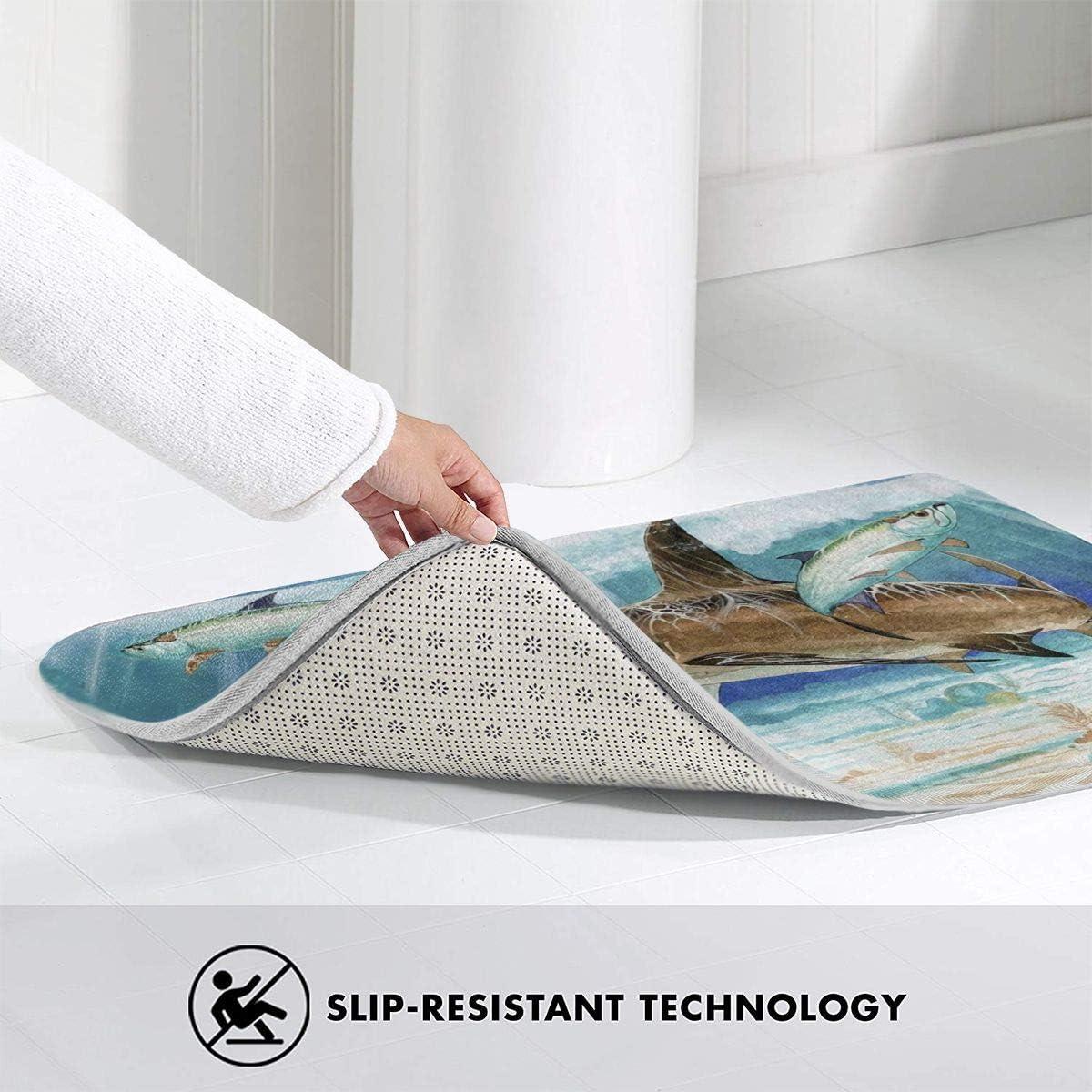 Anti-Slip Rubber Back Does Not Damage The Floor 15.7 X 23.6 Inch FREDDIE-ADAMS Horse Watercolor Home Bathroom Bath Shower Bedroom Mat Toilet Floor Door Mat Rug Carpet Pad Doormat