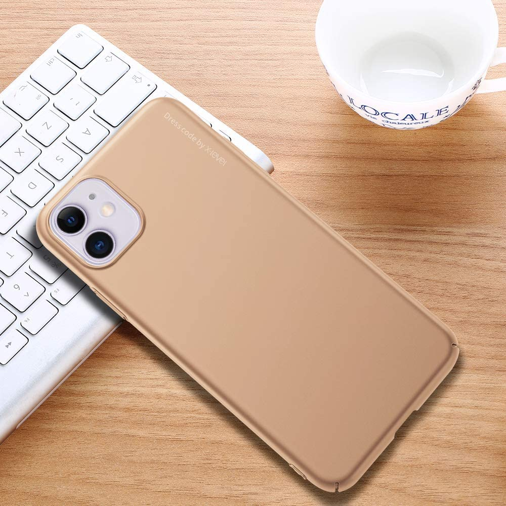 X-level iPhone 11 Case, 2019 Knight Series Ultra Thin Slim Protective Hard Plastic PC Matte Finish Phone Cases for iPhone 11 6.1 - Black