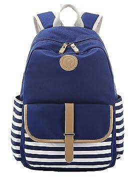 DATO Bolso Mochilas Escolares Raya Mochila de Lona para Mujer Moda Juvenil Grand Capacidad Viaje Mochilas Tipo Casual Backpacks: Amazon.es: Equipaje