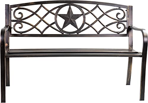 Patio Premier Lone Star Metal Park Bench