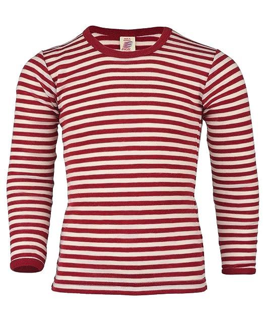 Camiseta de manga larga y rayas horizontales para niños de lana merina virgen, IVN BEST: Amazon.es: Ropa y accesorios