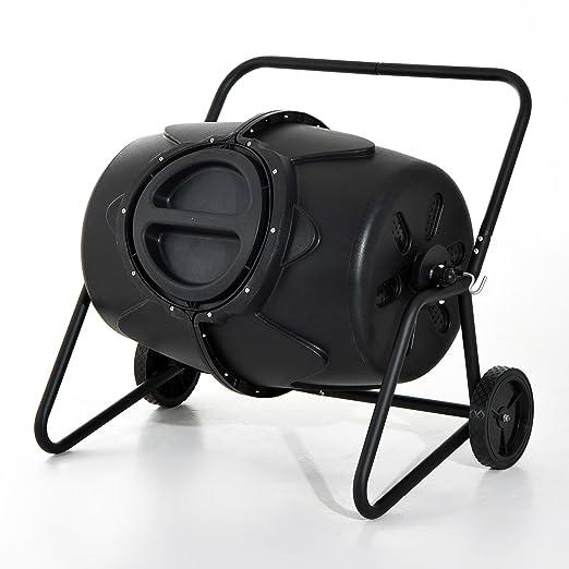 Outsunny - Balancín de jardín 170L Compost vaso Heavy Duty ...