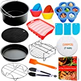 Air Fryer Accessories for Ninja Gowise Cosori Phillips Nuwave 7inch Air Fryer Accessories Fit 3.2QT,3.7QT-4.2QT Air Fryer,Non